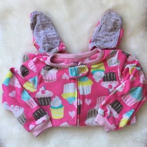 CARTER'S Girls Fleece Footed Pajama - Sz 2T